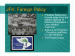 jfk foreign policy