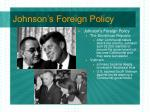 johnson s foreign policy