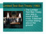 limited test ban treaty 1963