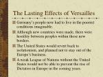 the lasting effects of versailles