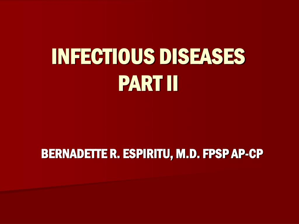 infectious diseases part ii l.