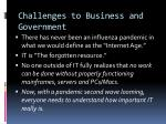 challenges to business and government