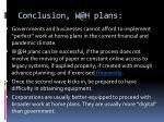 conclusion w@h plans