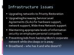 infrastructure issues