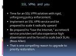 ssl vpns and you