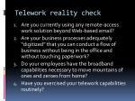 telework reality check