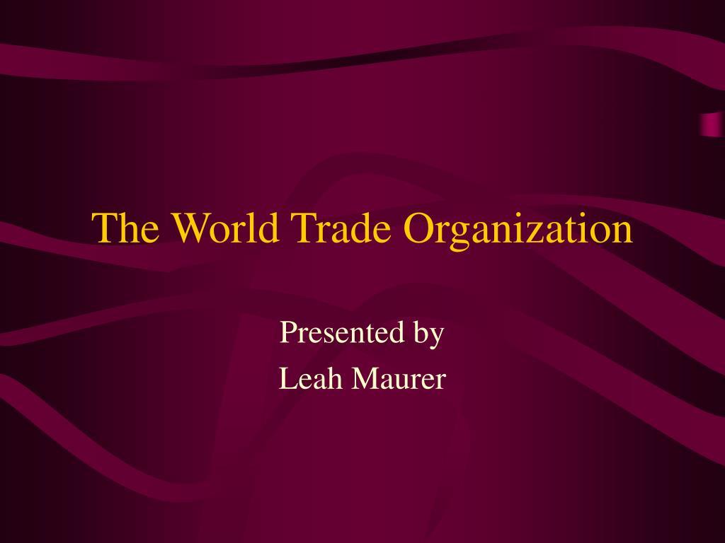 the world trade organization l.