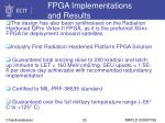fpga implementations and results20