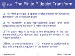 the finite ridgelet transform