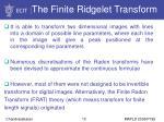 the finite ridgelet transform10
