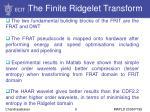 the finite ridgelet transform9