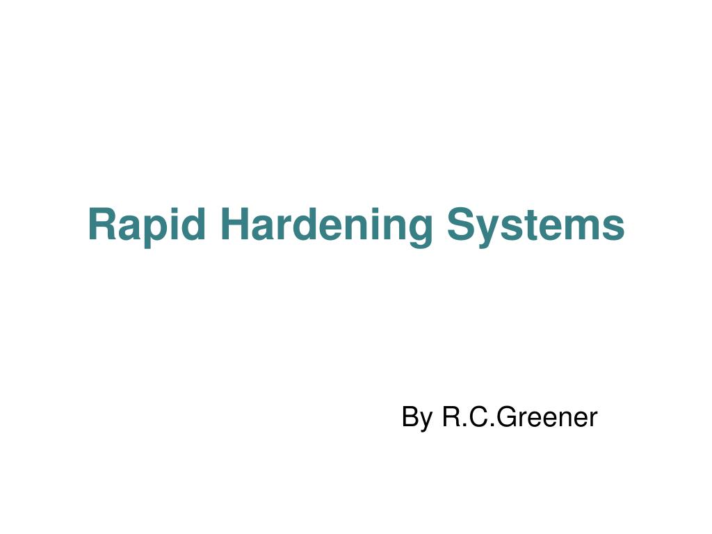 rapid hardening systems l.
