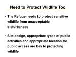 need to protect wildlife too