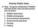 priority public uses