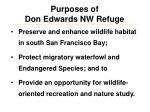 purposes of don edwards nw refuge