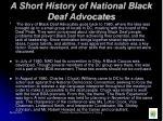a short history of national black deaf advocates