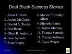 deaf black success stories
