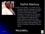 nathie marbury