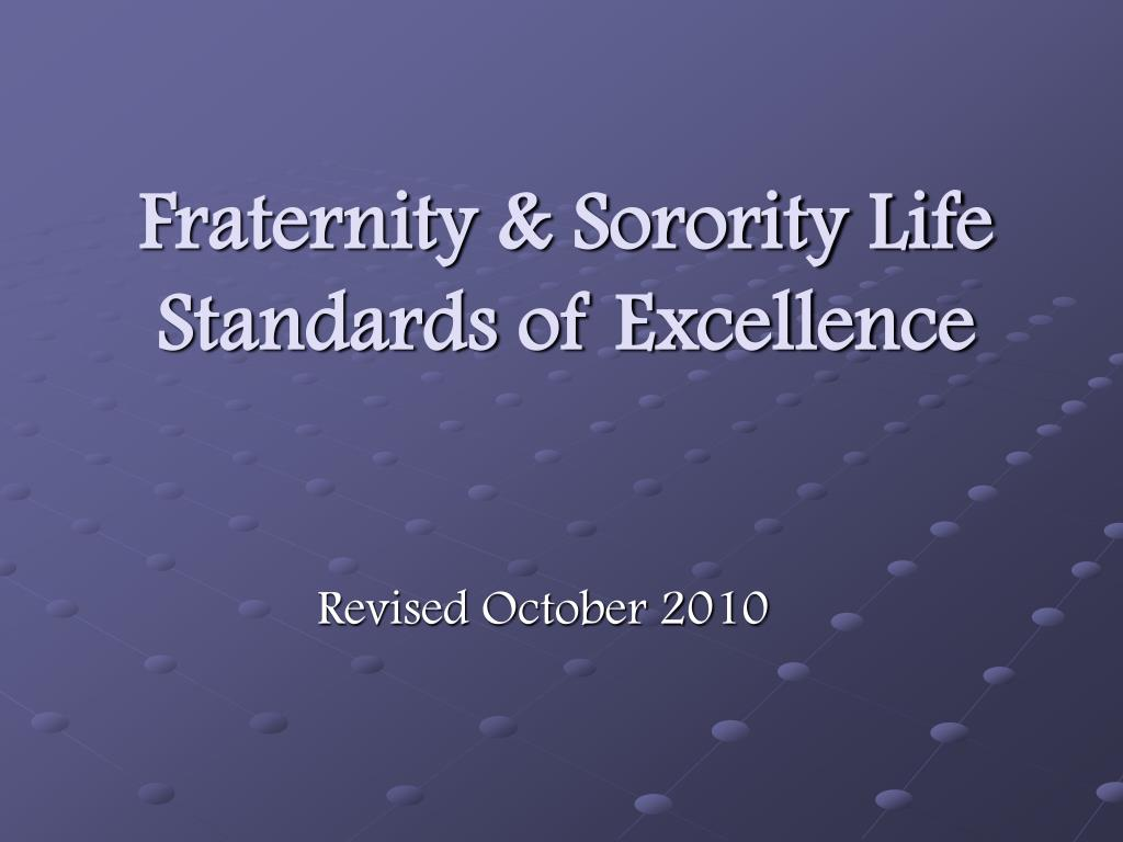 fraternity sorority life standards of excellence l.