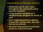 innovation in design cont