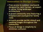 innovation in design cont7