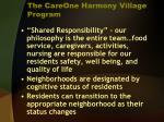 the careone harmony village program