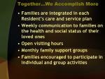 together we accomplish more