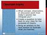 classroom inquiry