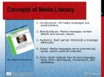 concepts of media literacy