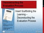 deconstructing the evaluation process