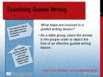 examining guided writing