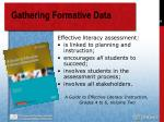 gathering formative data