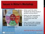 issues in writer s workshop