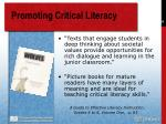 promoting critical literacy