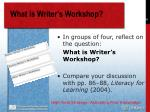 what is writer s workshop