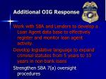 additional oig response