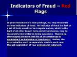 indicators of fraud red flags