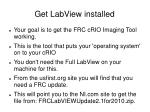get labview installed
