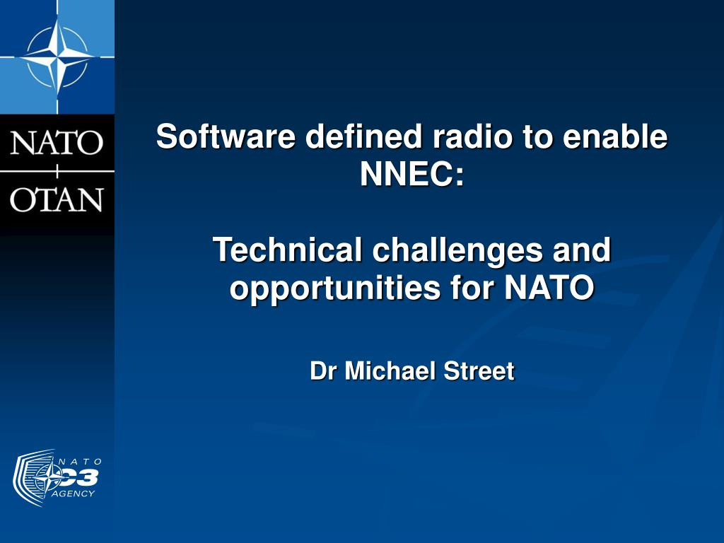 software defined radio to enable nnec technical challenges and opportunities for nato l.