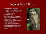 legal action esa continued