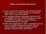 obtain an incidental take permit