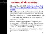 anorectal manometry