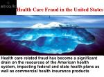 health care fraud in the united states