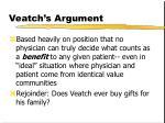 veatch s argument