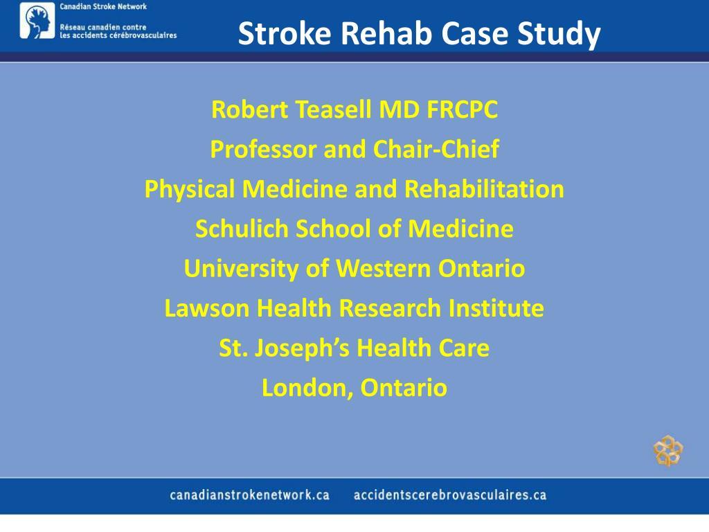 stroke rehab case study l.