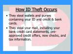 how id theft occurs