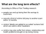 what are the long term effects