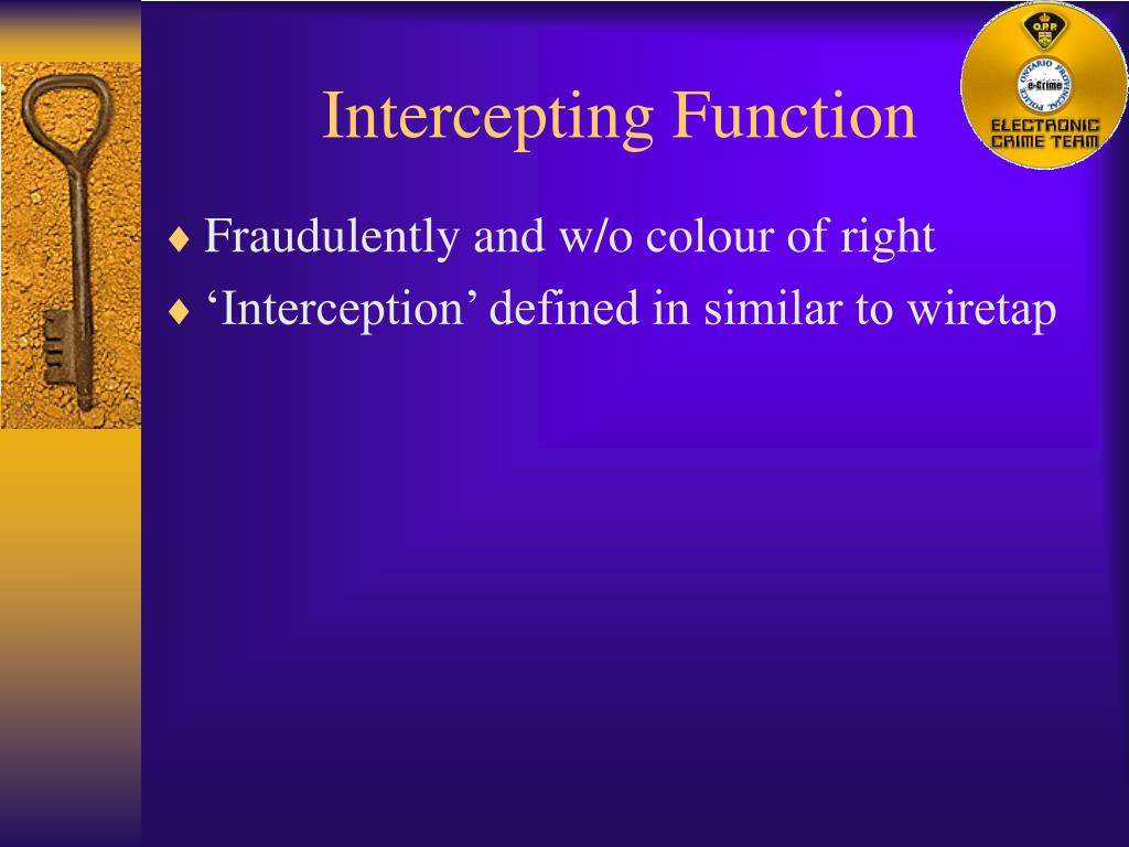 Intercepting Function
