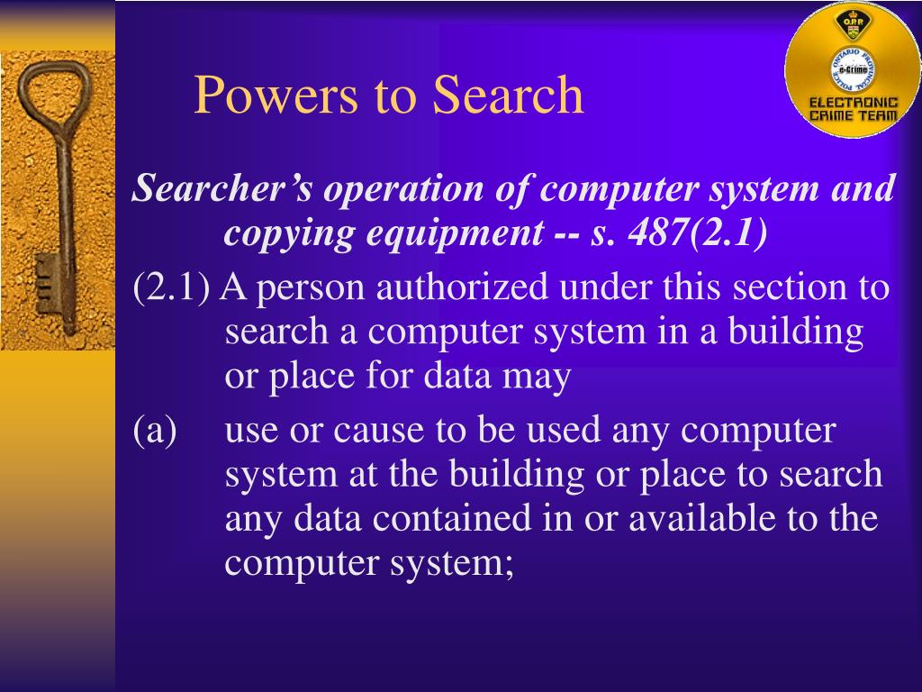 Powers to Search