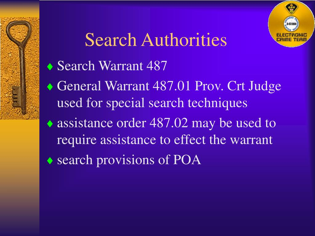 Search Authorities